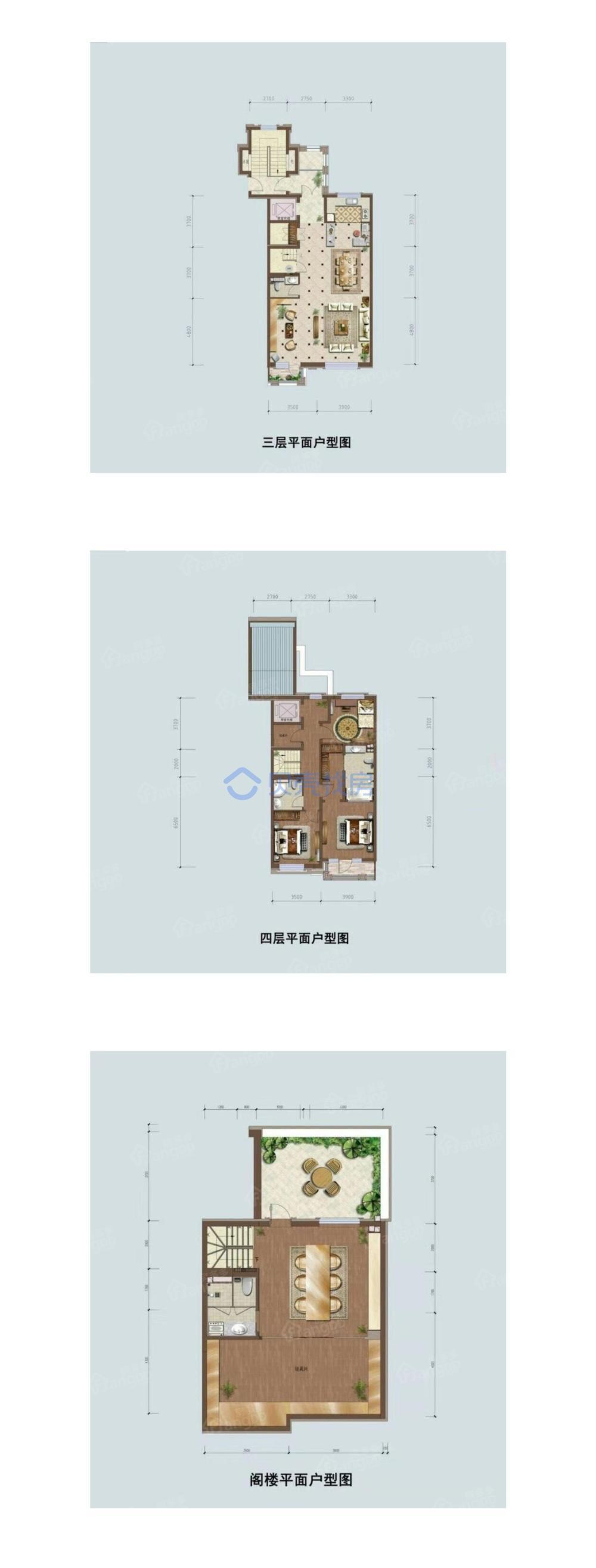首创禧瑞墅3室3厅4卫户型图