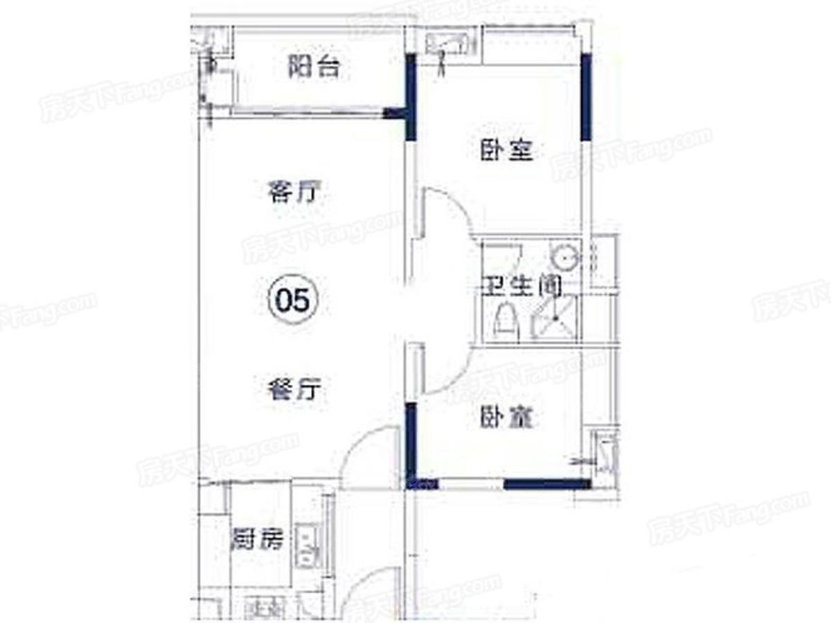 鸿成·珠江玥 2室2厅1卫