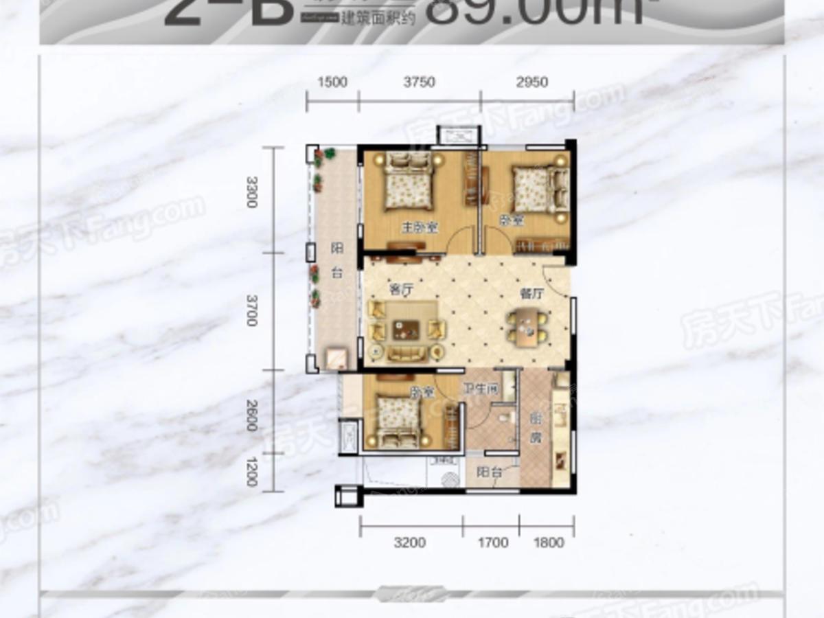 海慧春天国际社区3室2厅1卫户型图