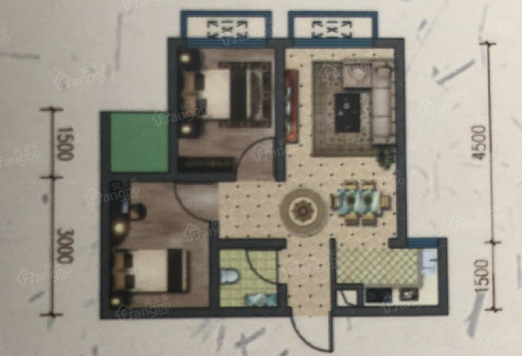 金星天下城2室1厅1卫户型图