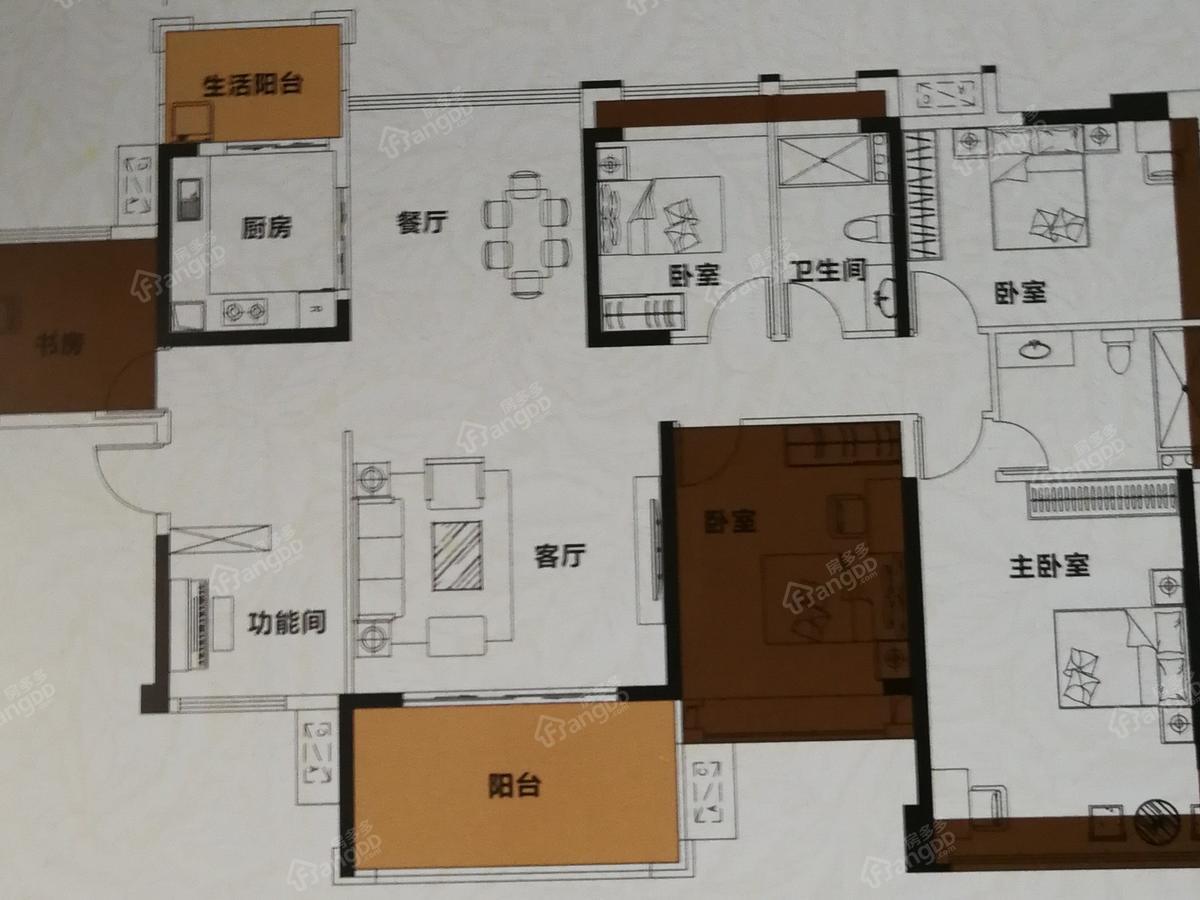 鼎能东盟城 6室2厅2卫