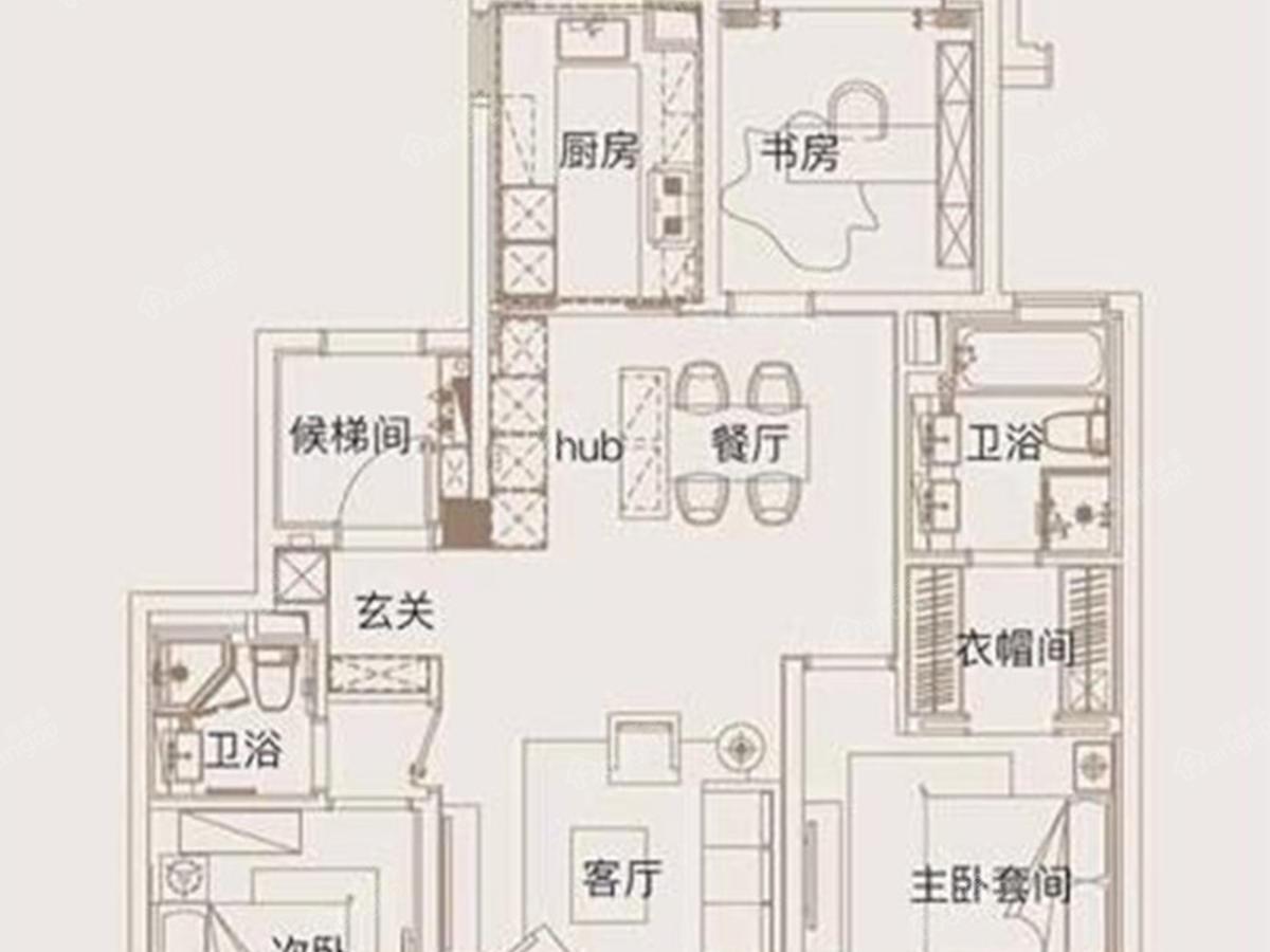 首创天阅滨江户型图_0