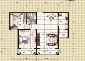 金牛山庄牛津郡2室2厅1卫户型图