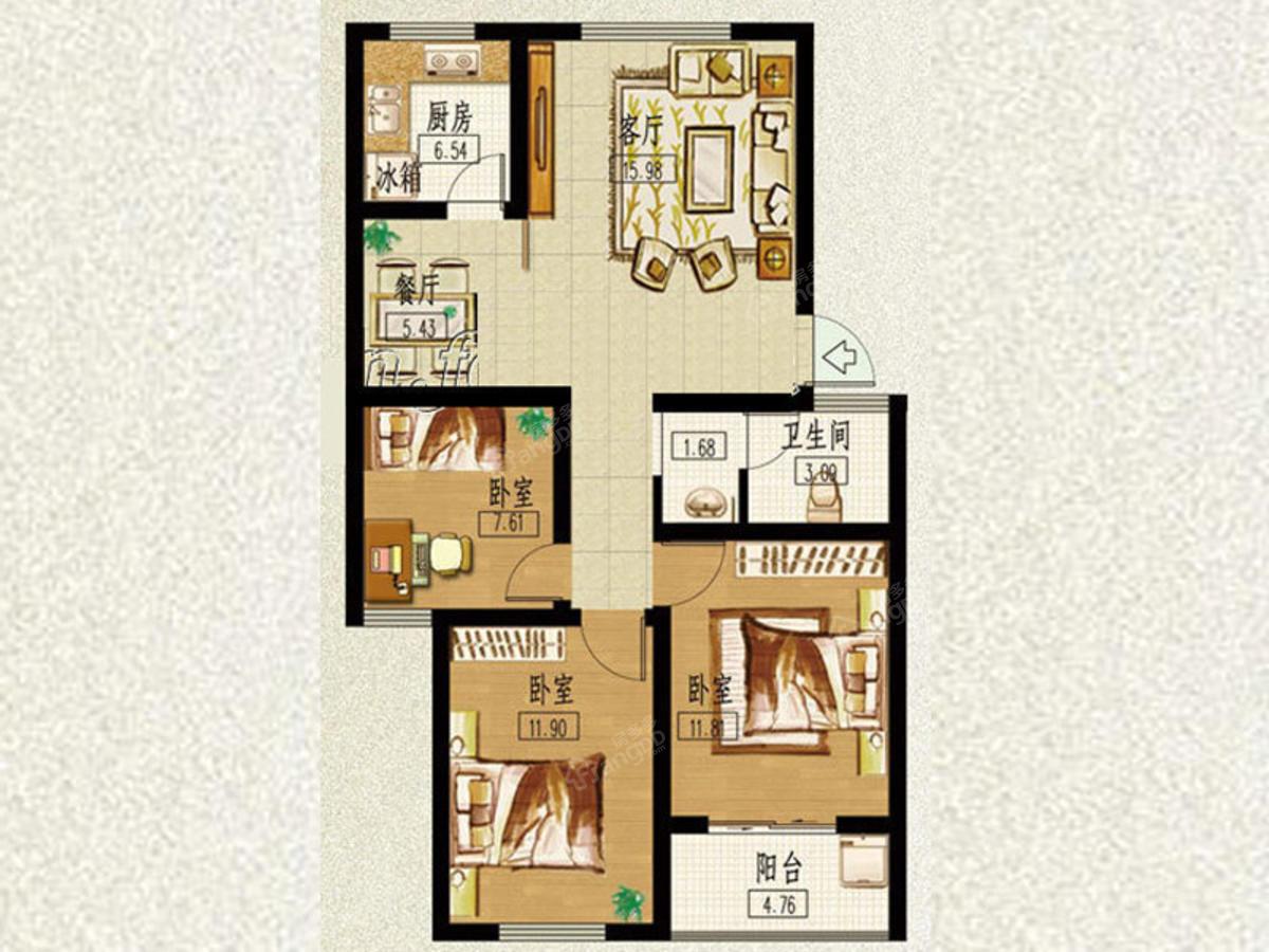 山泉印象 3室2厅1卫