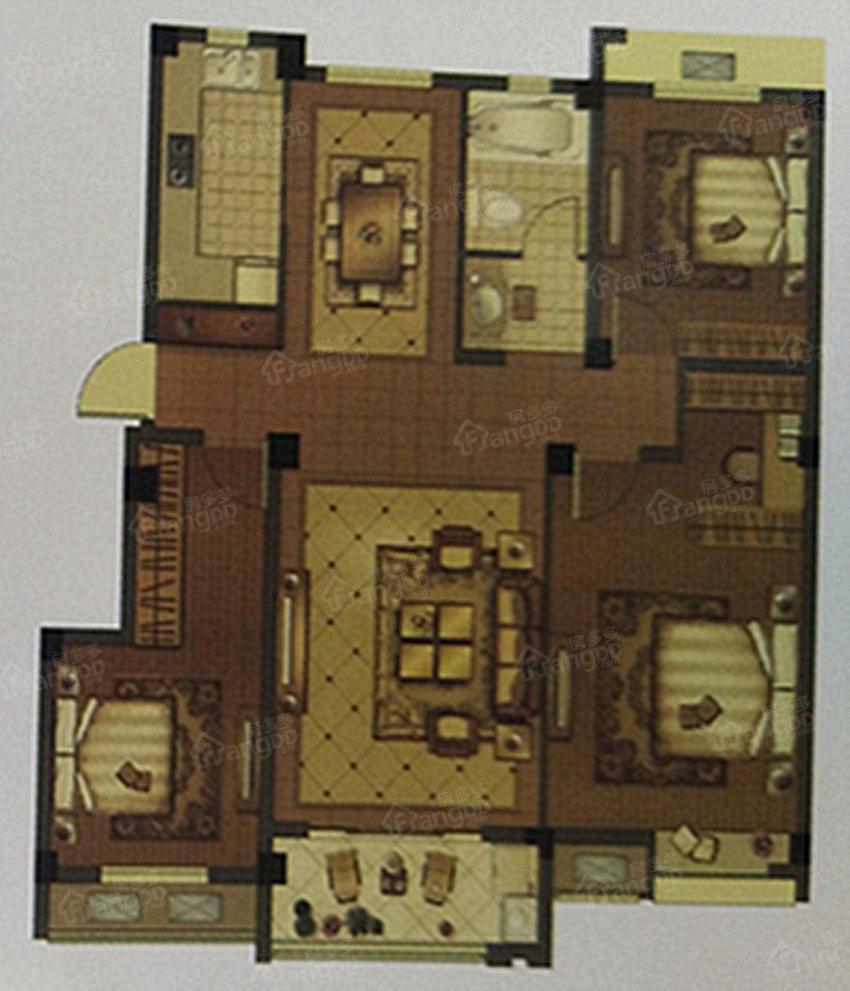 晶城壹号院3室2厅1卫户型图