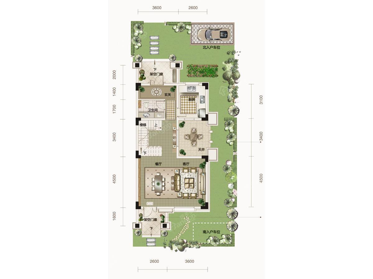 鄂旅投书院世家别墅3室2厅4卫户型图