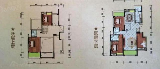 中鼎华城4室2厅3卫户型图