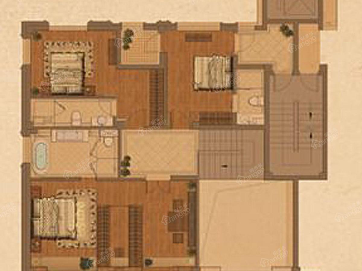 钱江西溪和景4室2厅4卫户型图