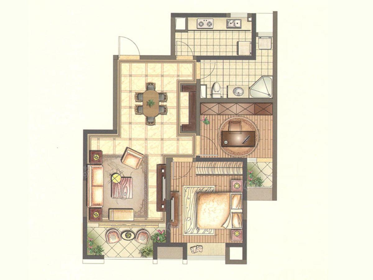 澄星广场 2室2厅1卫