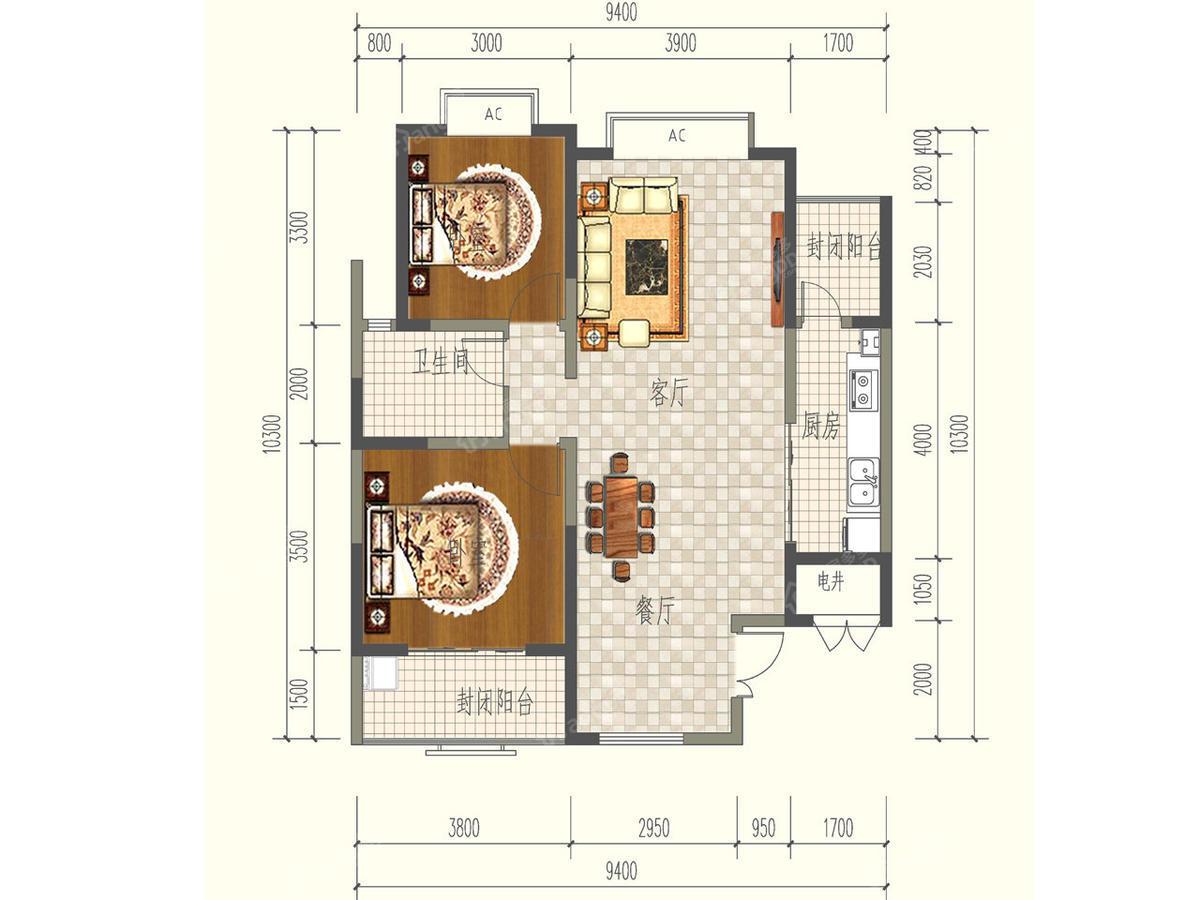 旺东盛园 3室2厅1卫