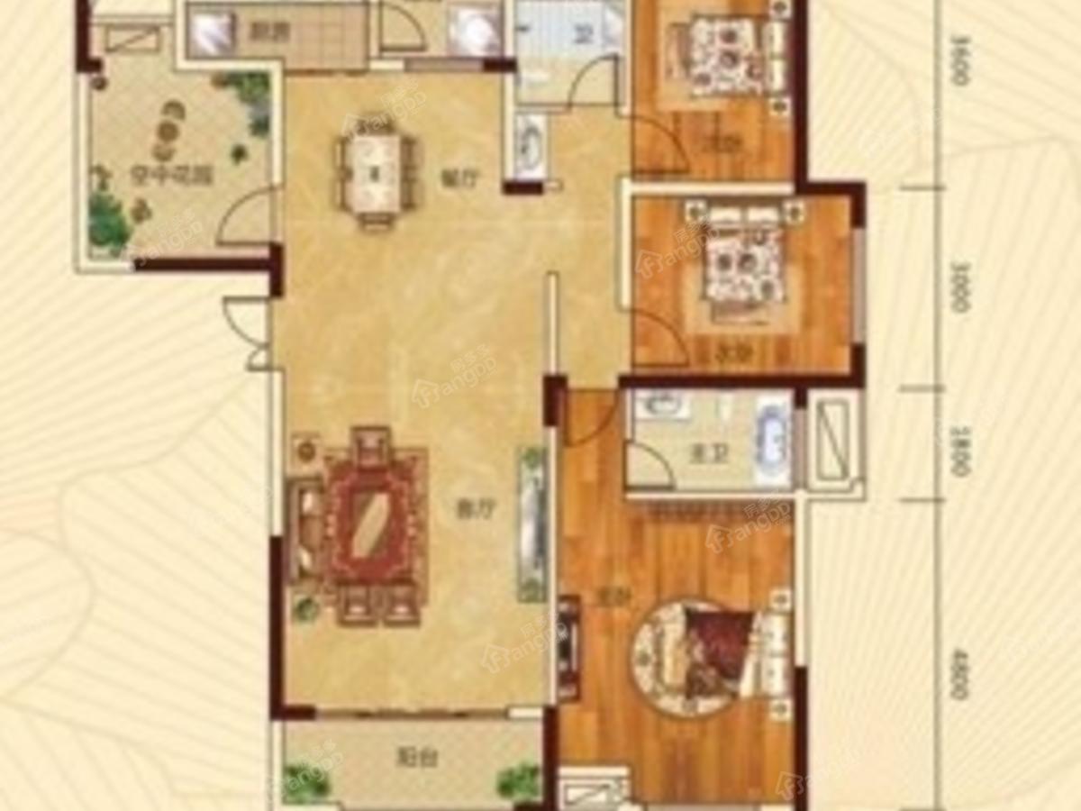 中驰公馆4室2厅2卫户型图