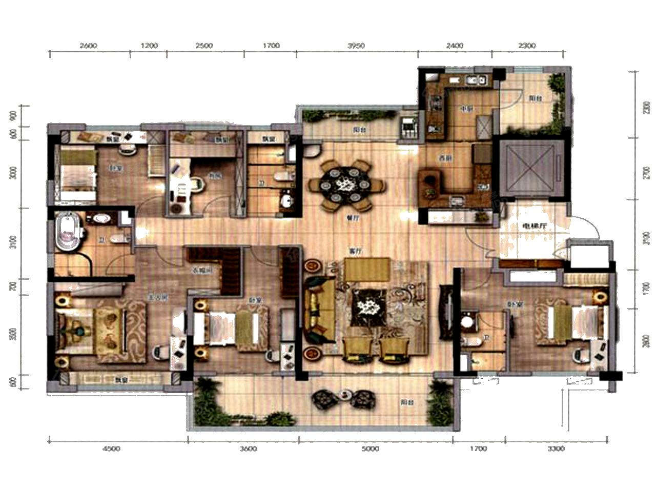 碧桂园云顶壹品5室2厅3卫户型图