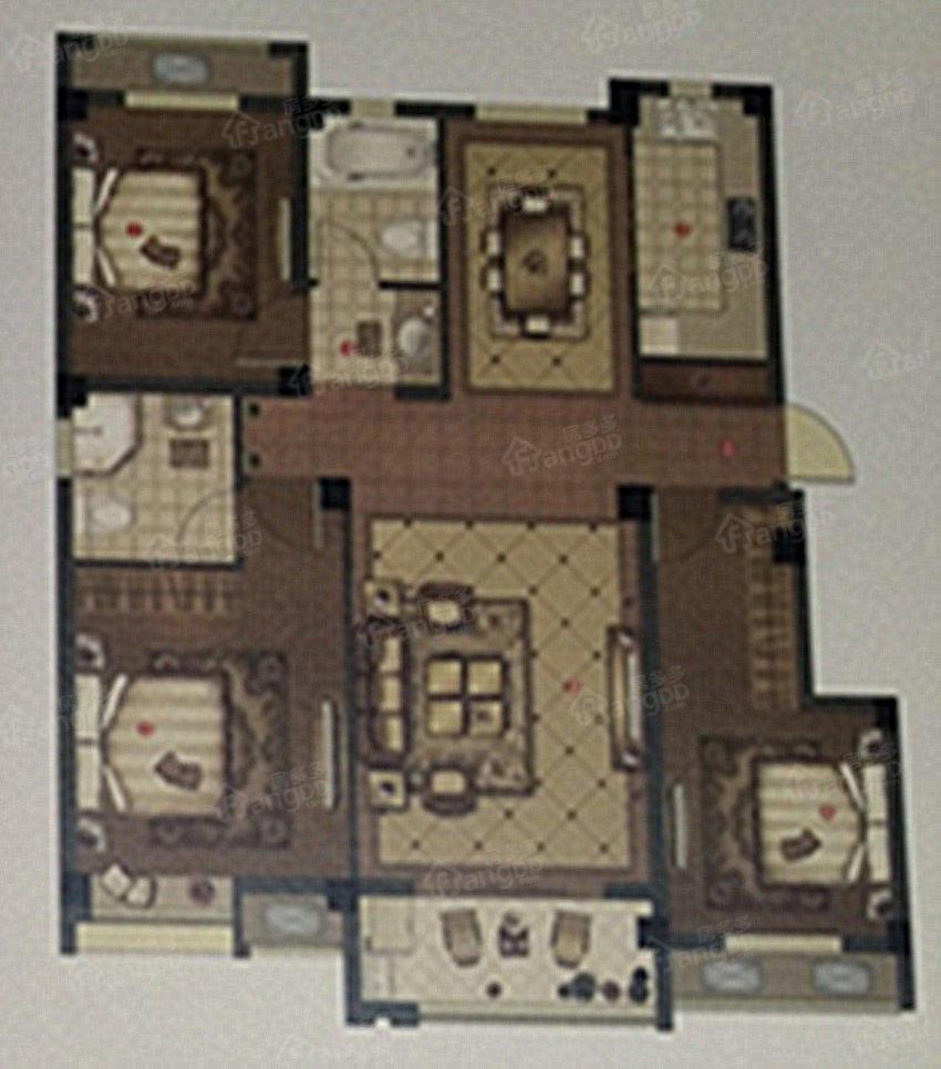 晶城壹号院3室2厅2卫户型图