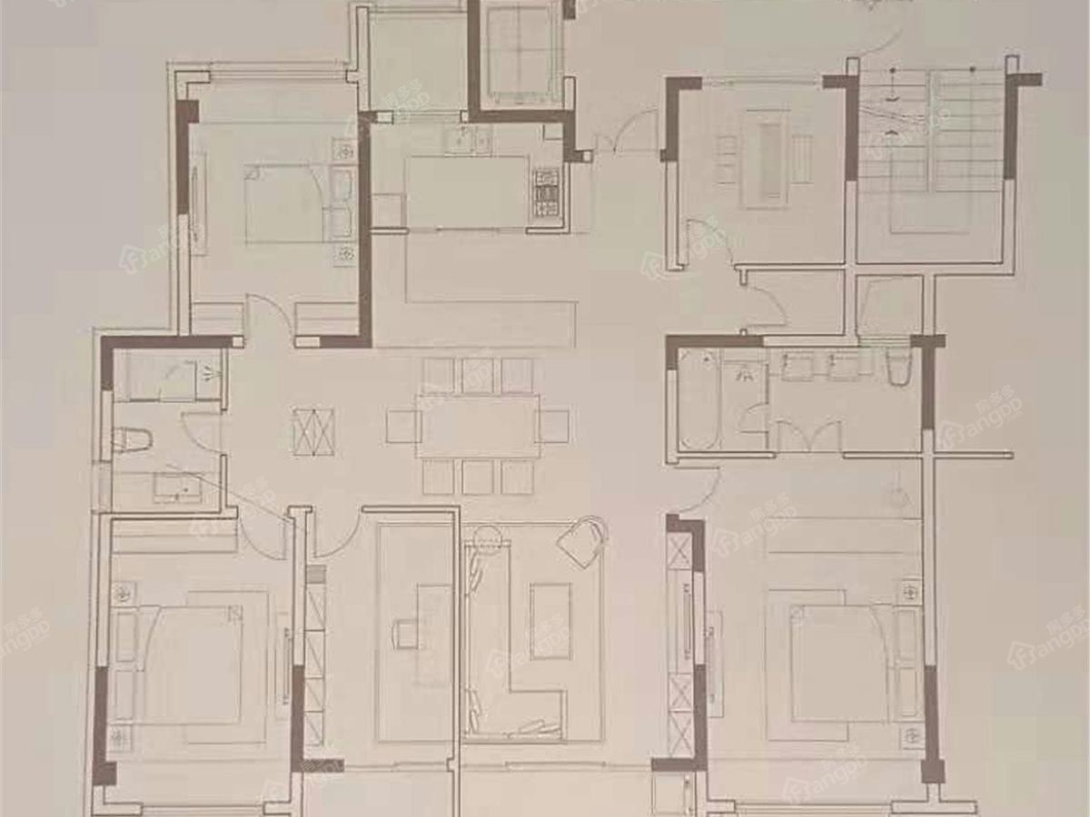 万科朗润园5室2厅2卫户型图