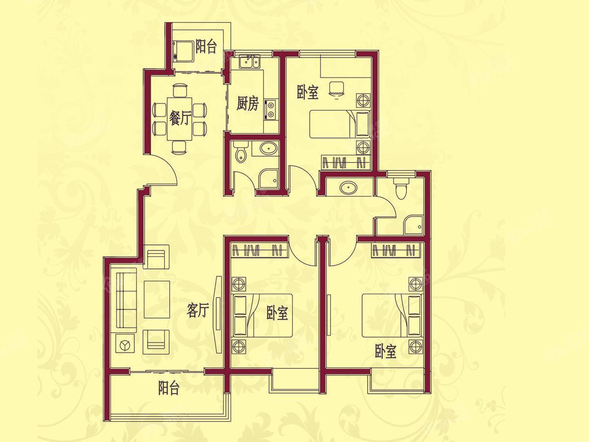 黄山新居 3室2厅2卫