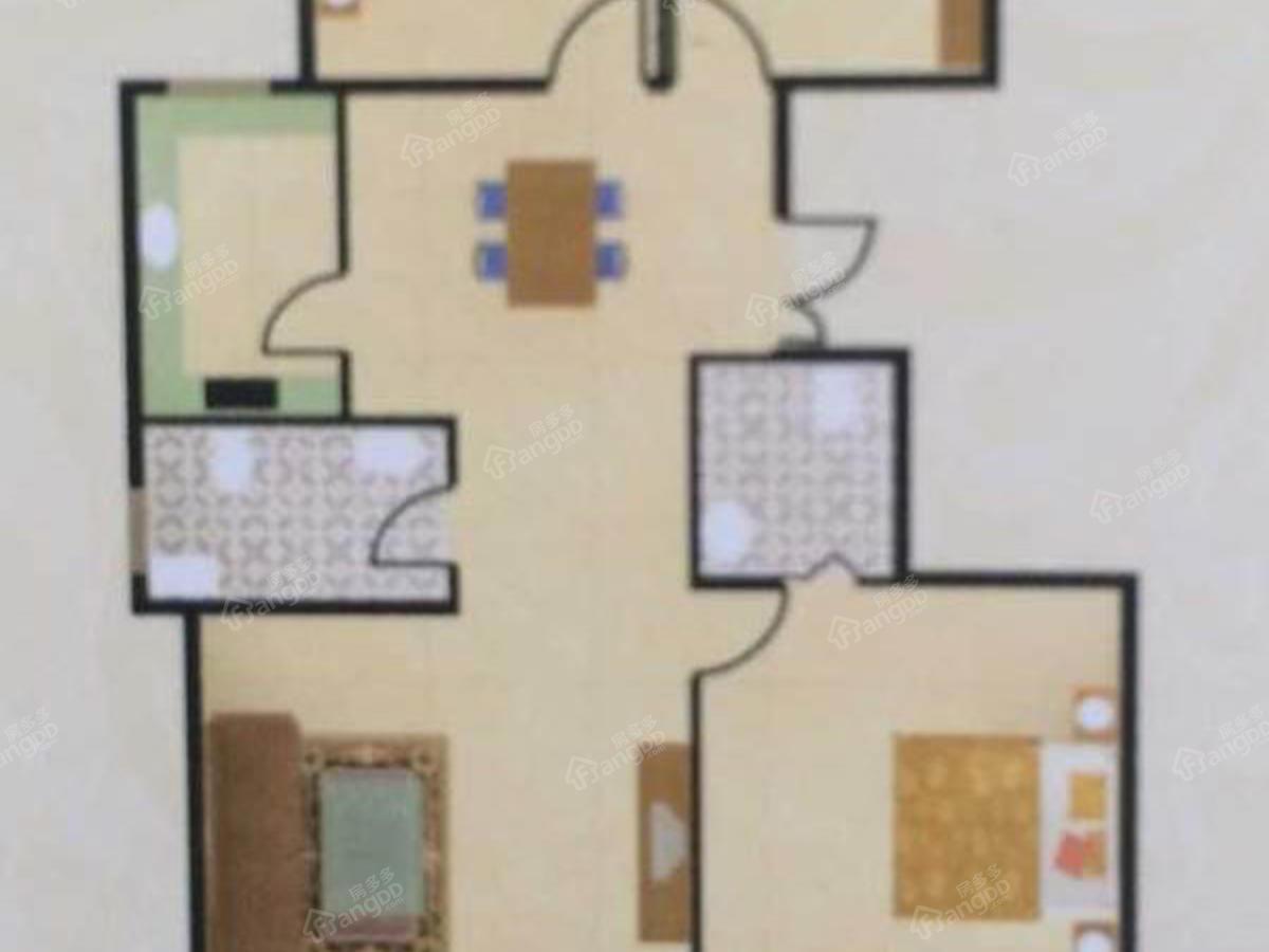 龙河唐都3室2厅2卫户型图