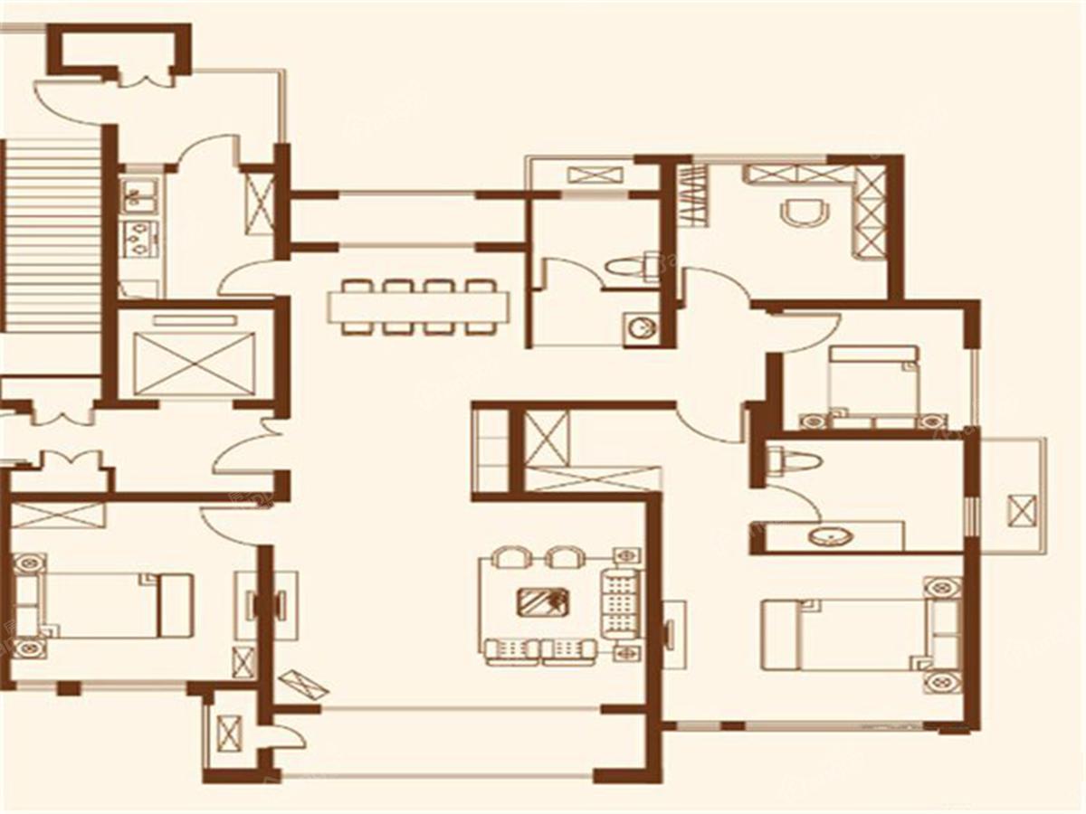 汉德九洲城4室2厅2卫户型图
