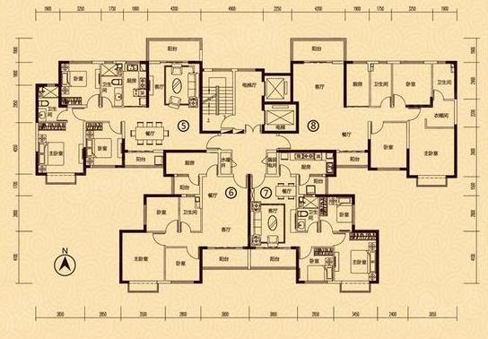 恒大御景2室2厅1卫户型图