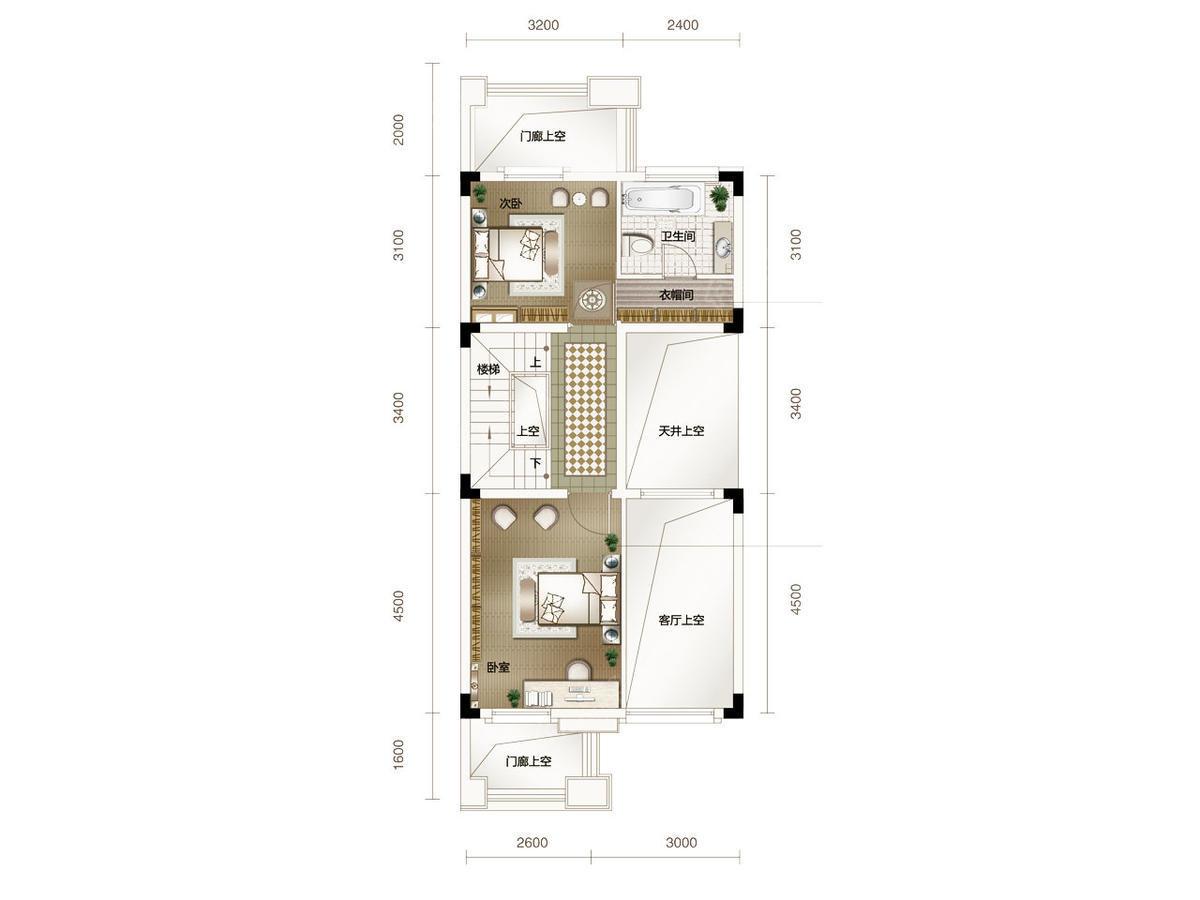 鄂旅投书院世家别墅3室2厅3卫户型图