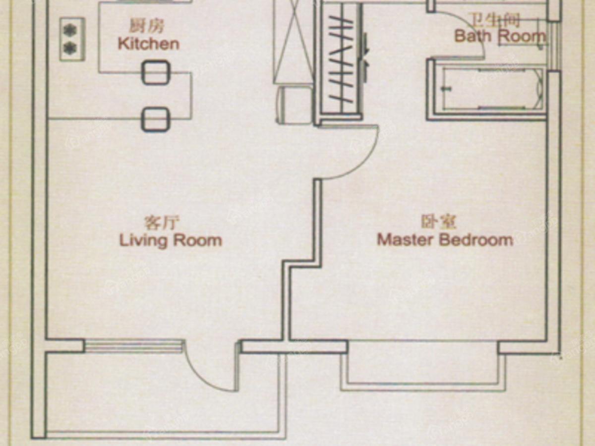 雍景台 1室1厅1卫