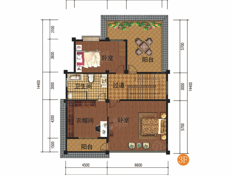 勐宛山水7室2厅5卫户型图