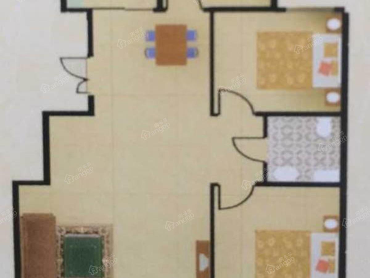 龙河唐都3室2厅1卫户型图