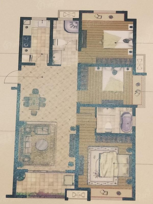 海亮天御3室2厅2卫户型图