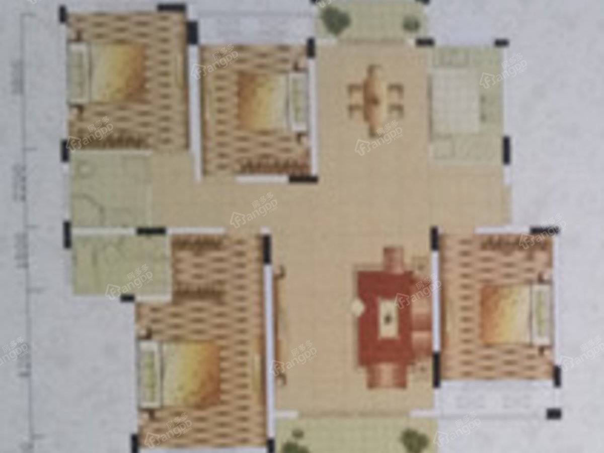 祥和世家4室2厅2卫户型图