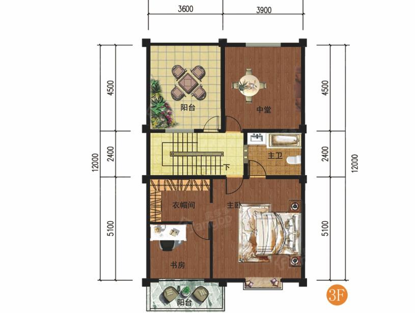 勐宛山水6室2厅4卫户型图