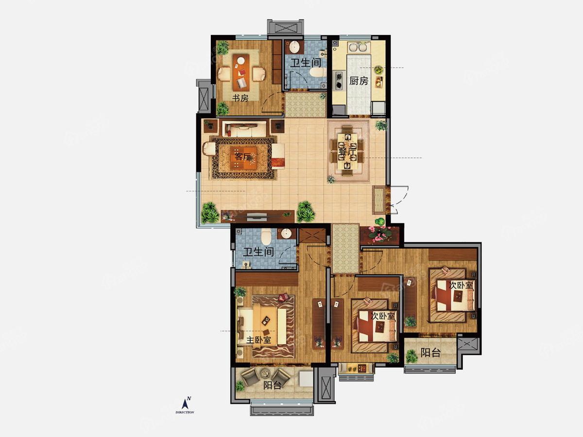 济南中建国熙台 4室2厅2卫