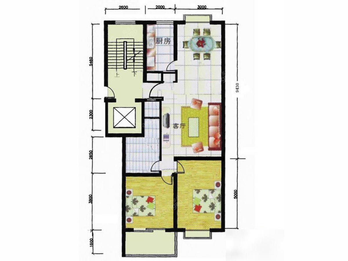 联发公寓 2室2厅1卫