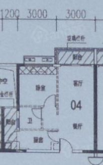 龙光阳光御府1室2厅1卫户型图