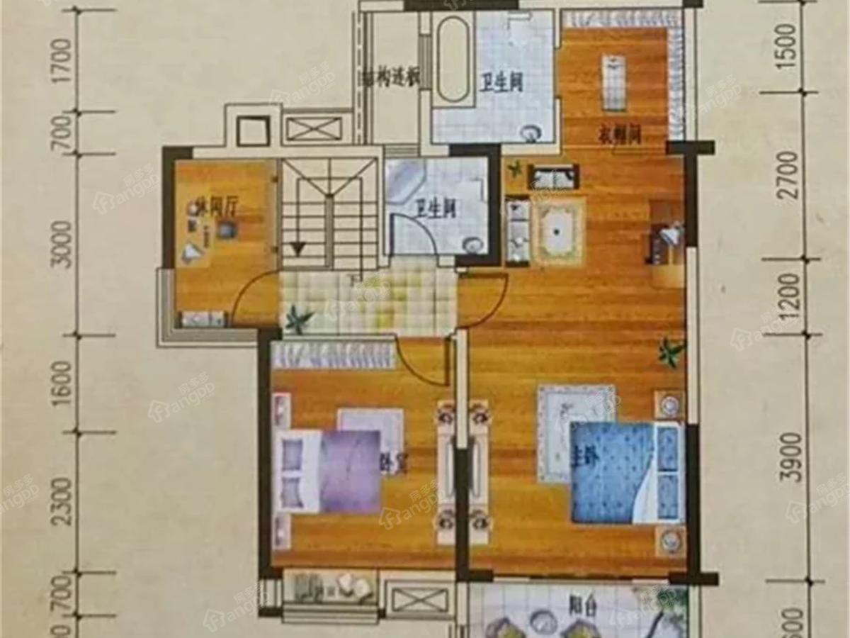 平昌龙锦湾二期滟澜枫景3室3厅3卫户型图