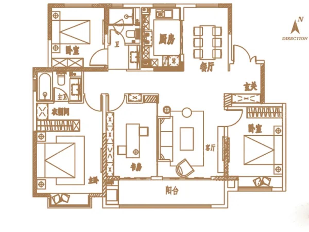 济南中建国熙台 3室2厅2卫