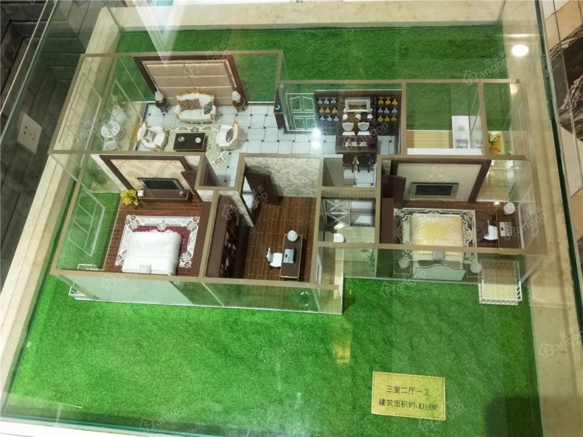 桐都玉城3室2厅1卫户型图
