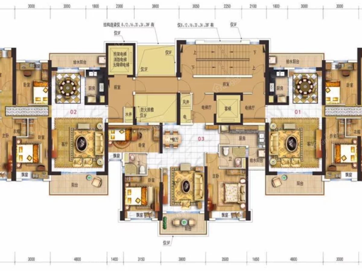 碧桂园·华附凤凰城4室2厅2卫户型图