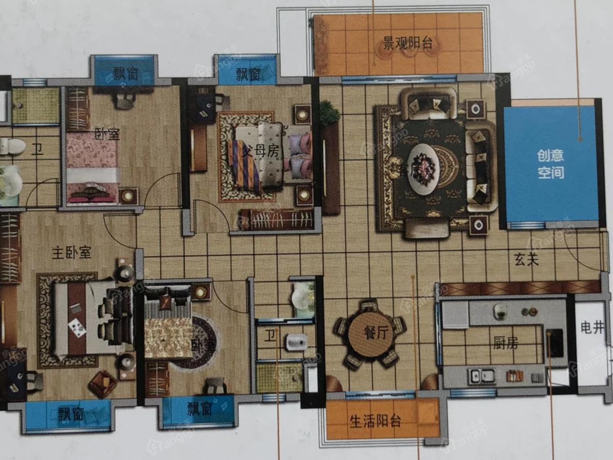 邵阳碧桂园·凤凰城4室2厅2卫户型图
