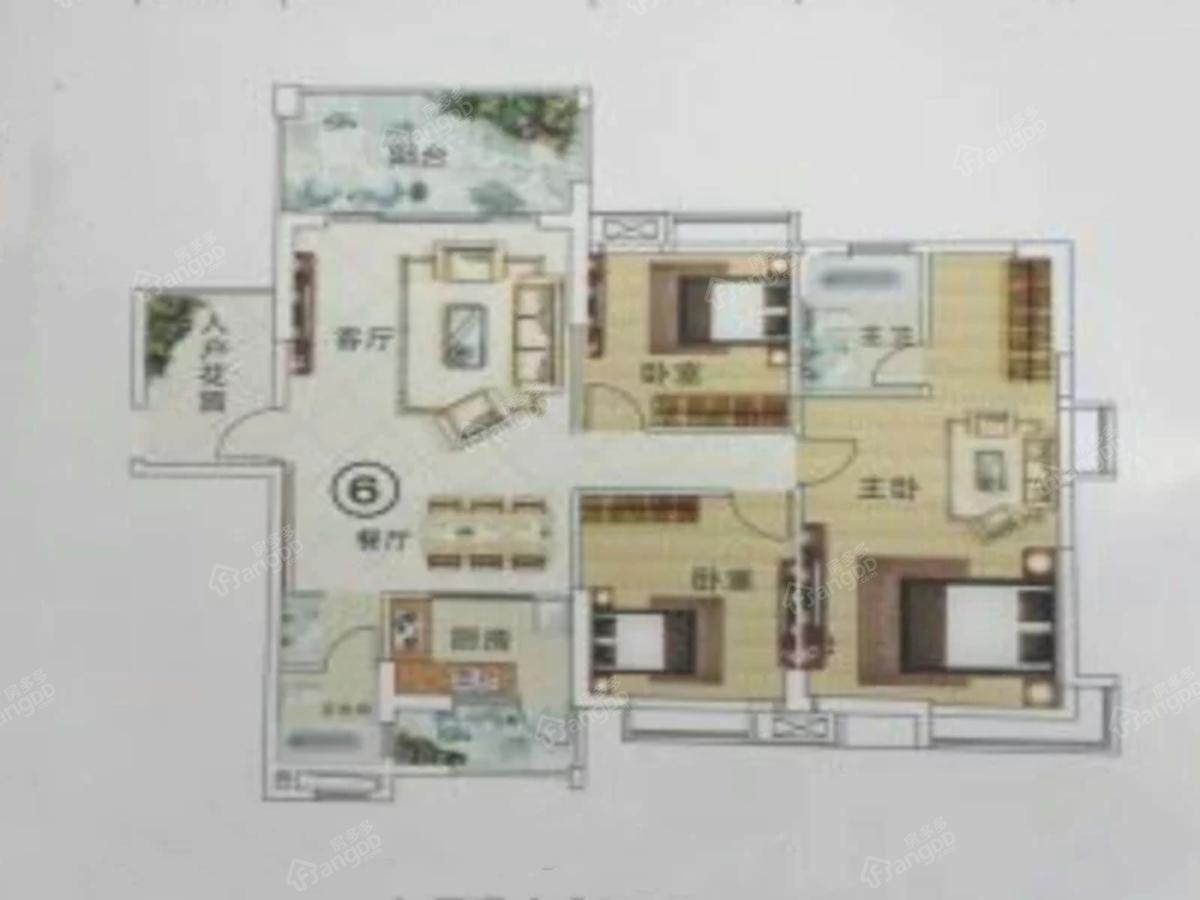 云峰诗意3室2厅2卫户型图