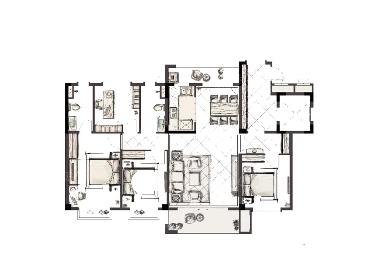碧桂园·观澜府4室2厅2卫户型图