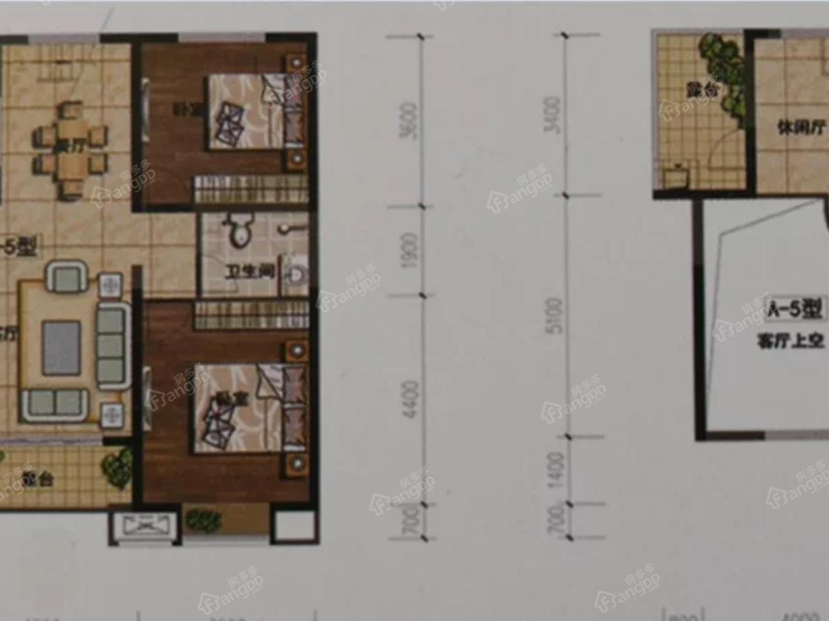 龙湾半岛4室2厅2卫户型图