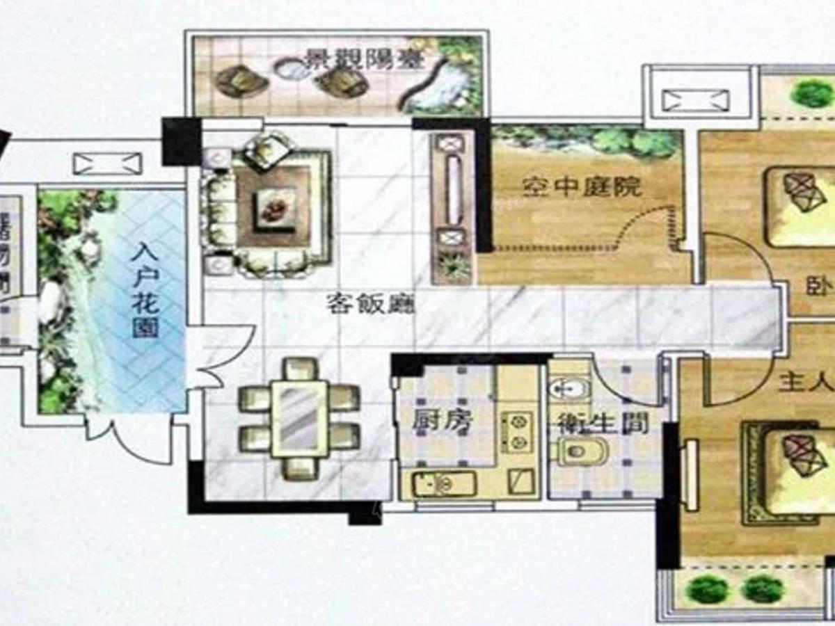 金塔温泉旅游小镇2室1厅1卫户型图