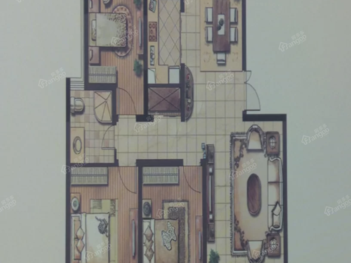 玉湖新城二期·上海人家2室2厅1卫户型图