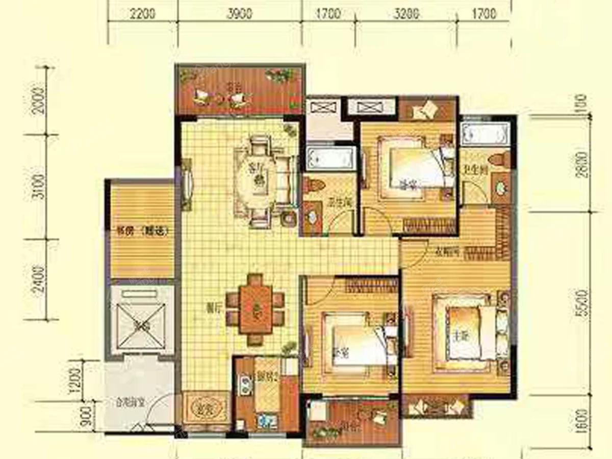 丽江明珠4室2厅2卫户型图