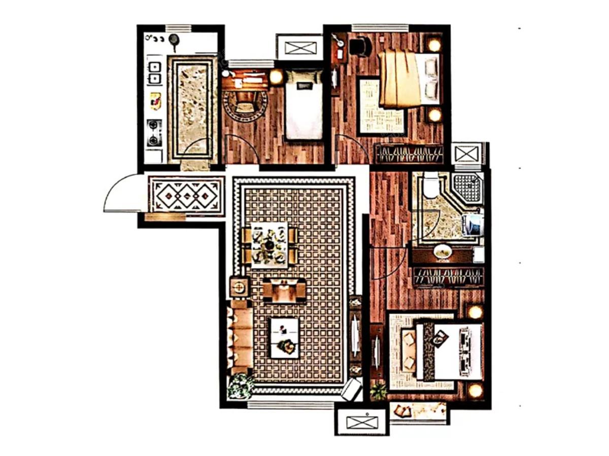 三利中和城3室2厅1卫户型图