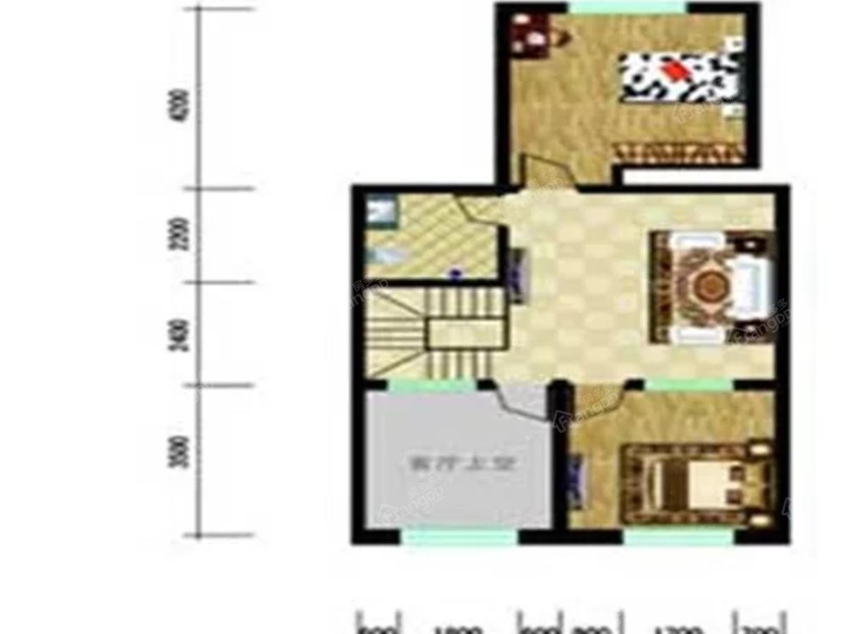 珠宝小镇2室2厅1卫户型图