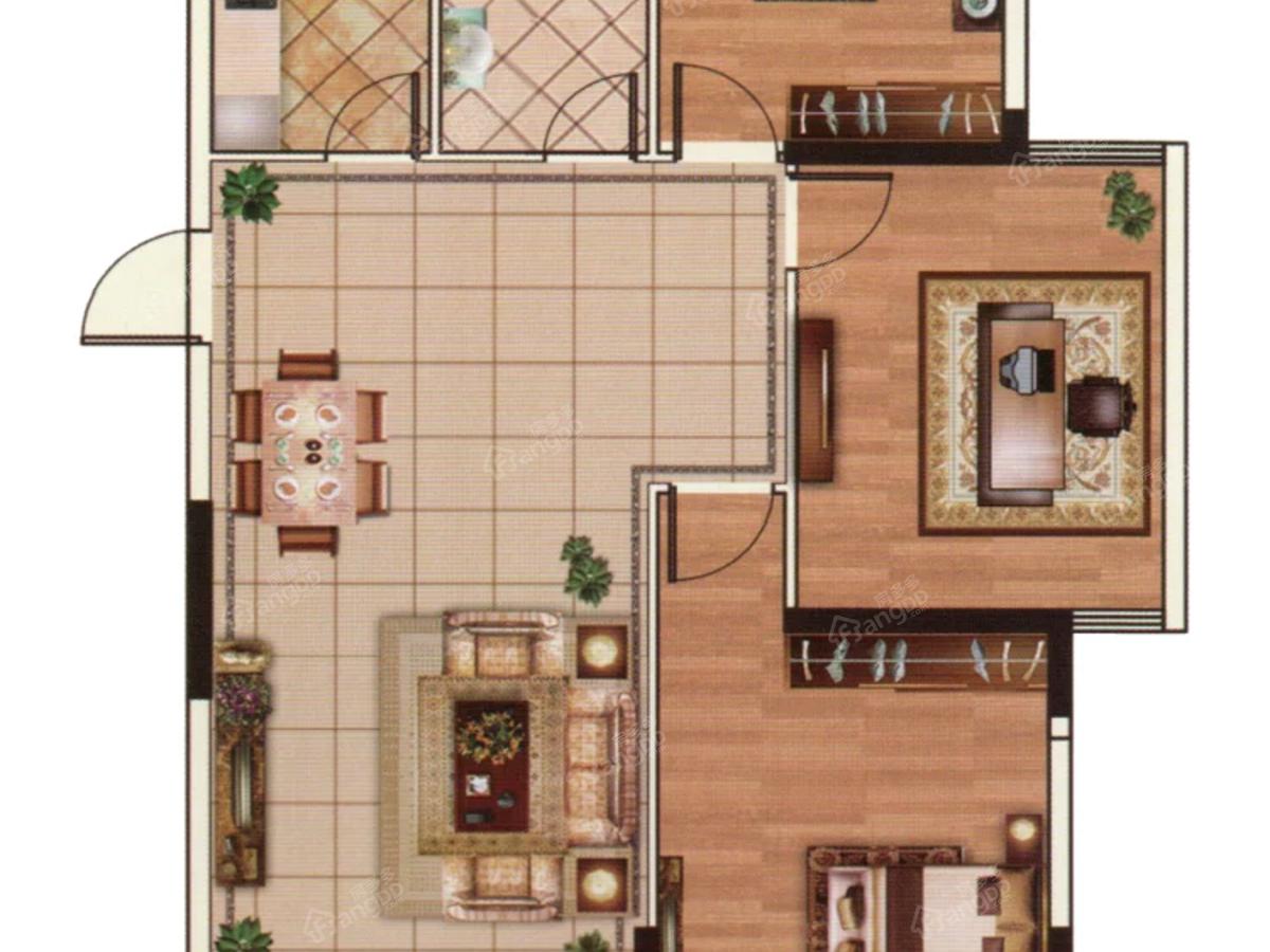亿丰时代广场3室2厅1卫户型图