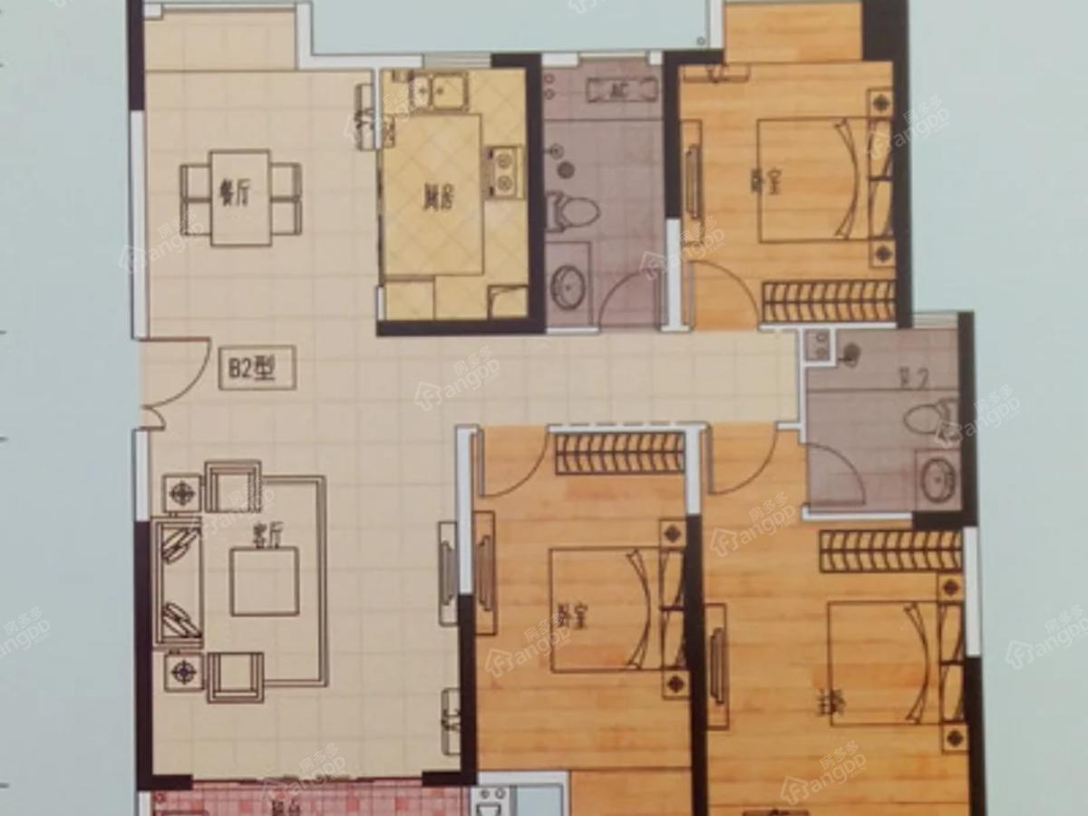凤凰天成3室2厅2卫户型图