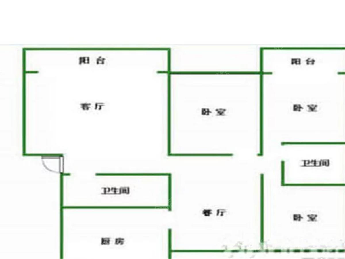 苹果家园3室2厅2卫户型图
