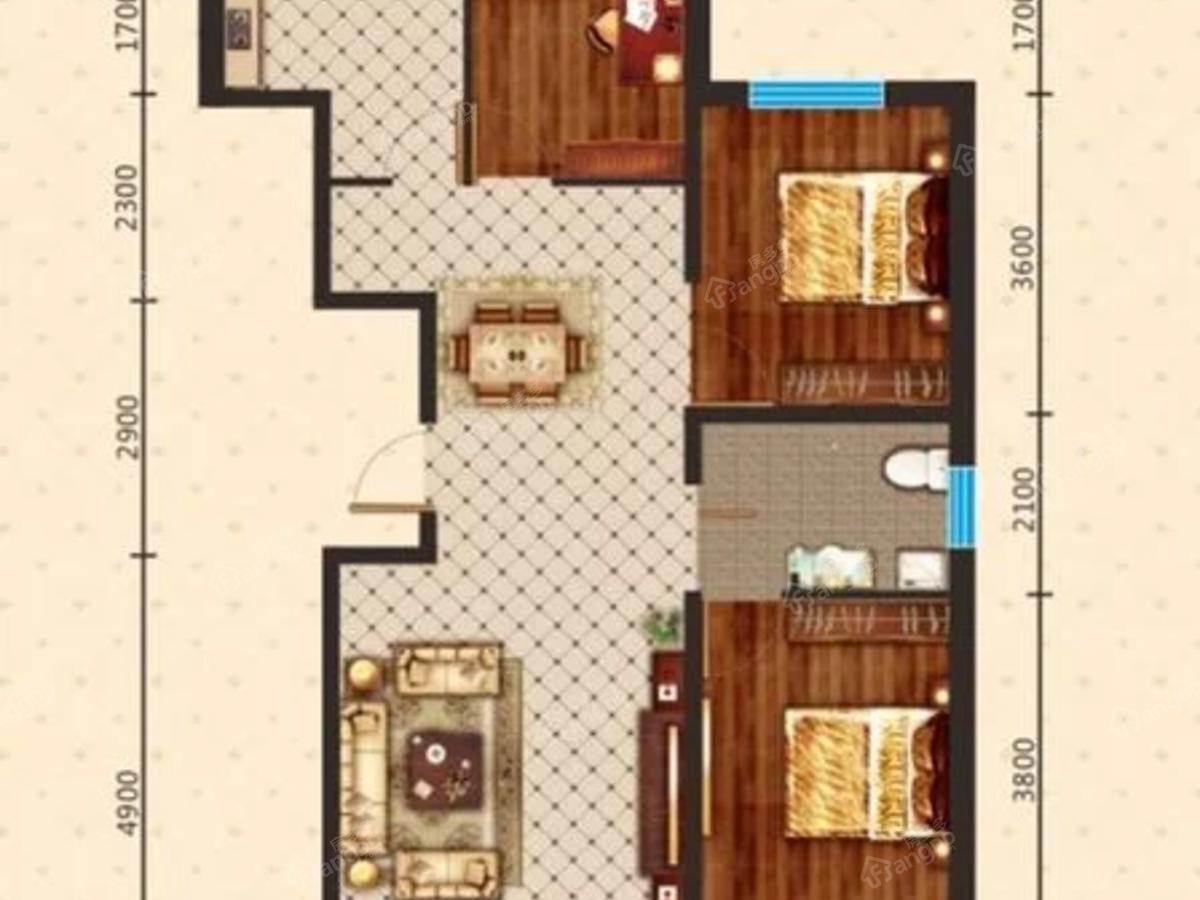 宝青丽景天成3室2厅1卫户型图