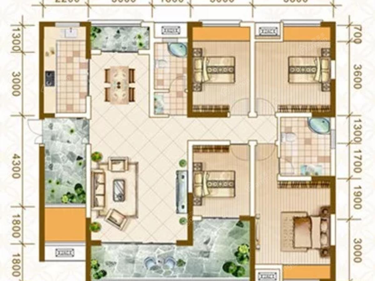 南苑·上和2期4室2厅2卫户型图